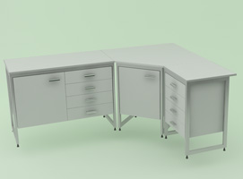 Лабораторная мебель NordLine - Стол лабораторный угловой