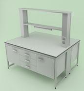 Лабораторная мебель NordLine - Стол физический островной 1500х1200х750