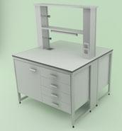 Лабораторная мебель NordLine - Стол химический островной 1200х1200х900